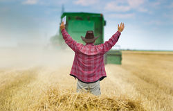Satisfied farmer Stock Photos