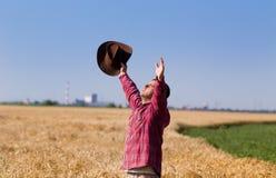 Satisfied farmer Stock Photo