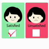 Satisfied girl versus dissatisfied girl Royalty Free Stock Images