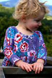 Satisfied Little Blond Hair Girl Royalty Free Stock Images
