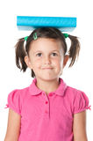 Satisfied little girl education Royalty Free Stock Photography