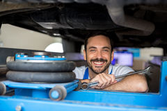 Satisfied male mechanic Stock Images