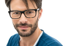 Satisfied man wearing specs Stock Image