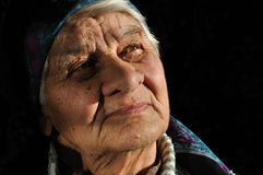Satisfied, the old lady, Stock Photography