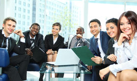 Satisfied proud business team Royalty Free Stock Photography
