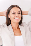 Satisfied and relaxed. Royalty Free Stock Images