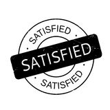 Satisfied rubber stamp Royalty Free Stock Image