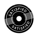 Satisfied rubber stamp Royalty Free Stock Photo