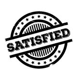 Satisfied rubber stamp Royalty Free Stock Photos