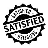 Satisfied rubber stamp Stock Photo