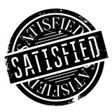 Satisfied rubber stamp Royalty Free Stock Photography