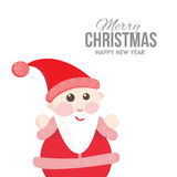 Satisfied Santa on holiday cards Stock Images