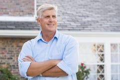 Satisfied senior man Stock Image
