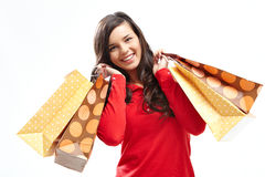 Satisfied shopper Royalty Free Stock Images