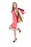 Satisfied shopping girl Royalty Free Stock Photo