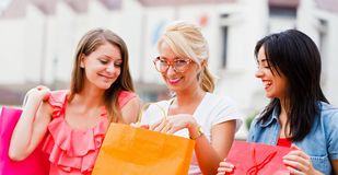 Satisfied With the Shopping Made Royalty Free Stock Images
