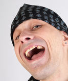 Satisfied smiling man Stock Photos