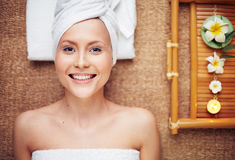 Satisfied with spa Stock Photo