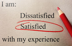 Satisfied survey Stock Photography
