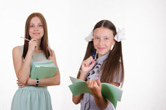 Satisfied teacher and student Stock Photo