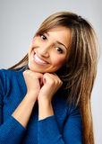Satisfied woman Royalty Free Stock Photo