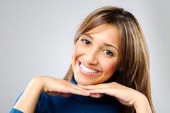 Satisfied woman Stock Image