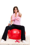 Satisfied woman after training Stock Image