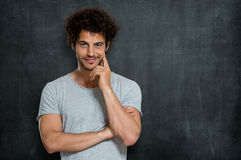 Satisfied Young Man royalty free stock images