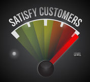 Satisfy customers level measure meter Stock Images