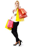 Satisfy yourself with shopping Stock Images