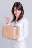 Satisfying delivery Stock Photo
