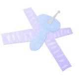 Satlelite dos desenhos animados feito do papercraft do tecido Fotos de Stock Royalty Free