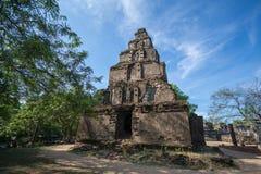 Satmahal Prasada in Polonnaruwa , UNESCO World Heritage Site, Sri Lanka, Asia. Ancient City of Polonnaruwa, Satmahal Prasada in Polonnaruwa Quadrangle, UNESCO Stock Photo