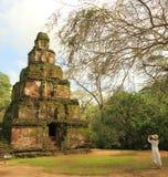 Satmahal Prasada, Polonnaruwa w Sri Lanka Zdjęcia Royalty Free