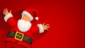 Satna Claus gai sur le rouge illustration libre de droits