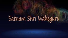 Satnam shri waheguru salogan sikhijska religia royalty ilustracja