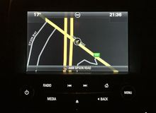 Satnav insignia Vauxhall Стоковые Фотографии RF