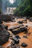 Satoddi vattenfall i Karnataka Fotografering för Bildbyråer