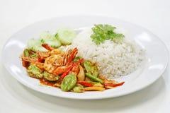 Sator pad kung thai food. Kung is shrimp Royalty Free Stock Image