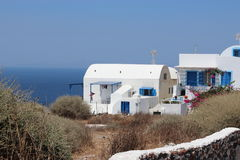 Satorini. Houses on santorini in Greece Royalty Free Stock Photos