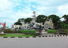 Satria Gatotkaca staty, Kuta, Bali Arkivfoton