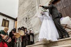 SATRIANO LUCANIA karnawał ZITA obraz royalty free