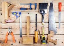Sats av konstruktionshjälpmedel och instrument royaltyfria bilder