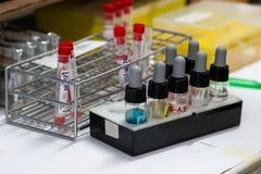 sats för blodtypprov Arkivbild