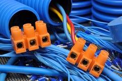 Sats för elektrisk del Arkivfoto