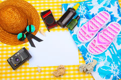 Sats för sommarstrandlopp Fotografering för Bildbyråer