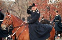 satsen ståtar polisen santa toronto Arkivfoton