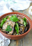 Satsivi - μελιτζάνες στη σάλτσα φυστικιών Παραδοσιακό της Γεωργίας cuisin Στοκ φωτογραφίες με δικαίωμα ελεύθερης χρήσης