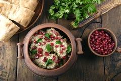 Satsivi med höna är traditionell georgian mat Royaltyfri Bild