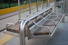 Satsna på spårvagnstationen Arkivfoto